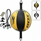 RDX Leather Double End Dodge Speed Ball MMA Boxing Ceiling Punching Bag Training