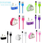Genuine USB Lightning Data Sync Cable Lead+ UK CE Charger plug For i Phone 5/6