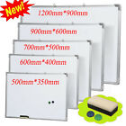 Magnetic Dry Wipe Whiteboard White Notice Memo Board Office Meeting School Home