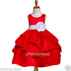 RED WHITE HOLIDAY PICK UP WEDDING FLOWER GIRL DRESS 6M 12M 18M 2/2T 4 6 8 10 12