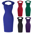 Vintage Style 50's Wiggle Bodycon Pencil Dress Backless Party Cocktail Gown NEW