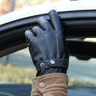 Wholesale Winter Warm Men Leather Gloves Motorcycle Riding Thick Touch Gloves
