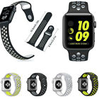 For Apple Watch NlKE Series 2/1 Strap Replacement Silicone Wrist Bracelet Bands