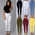 Women Pencil Stretch Casual Denim Skinny Jeans Pants High Waist Trousers Hot