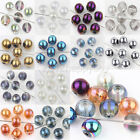 Hotselling 25/50PCS Crystal Spacer Loose Round Beads Crafts DIY Findings 8mm