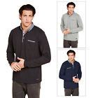 Brave Soul Herad Mens Long Sleeved Polo Shirt New Designer Button Collar Tee Top