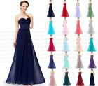 New Long Chiffon Evening Formal Party Prom Ball Gown Bridesmaid Dress Size 6-18