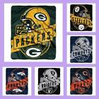 NFL Licensed Grand Stand Plush Raschel Afghan Throw Blanket - Choose Your Team