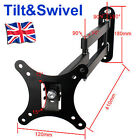TV Wall Mount Bracket Tilt Swivel 10 16 20 21 23 27 30 LCD LED PLASMA VESA 100mm