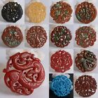 66-72mm Carved old jade different shape pendant bead *Each one pictured*