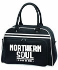 Northern Soul Way of Life Bowling Style Bag Sport Collage School Gym Holdal