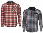 MENS JACK & JONES CHECK SHIRT LONG SLEEVE SLIM FIT IN RED & BLUE COLOURS S - XL
