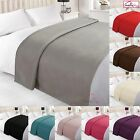 Dreamscene Warm Soft Plain Fleece Throw Over Large Decorative Sofa Bed Blanket