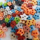 25 teeny tiny multicoloured star buttons size 6mm or 9mm