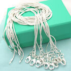 10pcs/lot Wholesale Silver Plated 1mm Snake Chain Necklace 16-24inch Diy Mirable