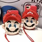 3D Super Mario Bros wallet Card Lanyard Soft Case For iPhone 6s PLUS 7 Plus