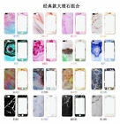 Back+Front Granite Marble Grain Protective Case For Apple iphone 7 Plus 6s Plus