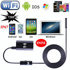 HD 8.0mm Waterproof WiFi Endoscope Inspection Camera for iOS/Android/Windows