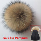 New Faux Fur Pom Bobble With Press Stud Handmade Pompom For Hat Cap Fur Gifts
