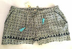 LUCKY BRAND COTTON BOXER SHORTS LOUNGEWEAR PAJAMAS w/SIDE POCKETS WOMEN'S NWT