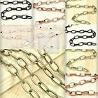 6.56/13.12 feet 2M 4M Unfinished Oval Cable Chain DIY Necklace Pendant 4 Colors
