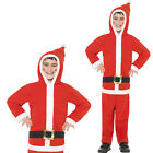 Smiffy's Santa Boy One In All Hooded Jumpsuit Christmas Festive Costume Outfit