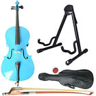 New Cello Natural Black White Blue Size 4/4 3/4 1/2 1/4 + Bag + Bow+Rosin+Stand