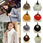 Fashion Women Winter Warm Cotton Knitted Crochet Ring Spain Infinity Loops Scarf