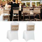 "9""x14"" ""always forever"" Burlap Chair Banner Signs for Rustic Wedding Party Decor"