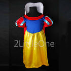 Snow White Princess Cartoon Character Girl Fancy Dresses Up Costume Sz 2T-8 001
