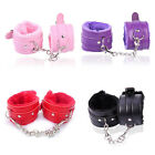 Fetish Handcuffs Leather Sex Slave Hand Ring Ankle Cuff Restraint Toys Sexy Fun