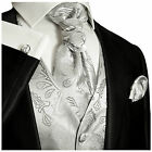 Silver Paisley Tuxedo Vest, Tie and Accessories by Paul Malone