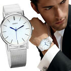 Fashion Men's Date Stainless Steel Military Sport Quartz Women Wrist Watch tb