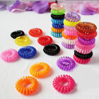 10/100pcs Girl Elastic Rubber Hair Ties Band Rope Ponytail Holder Fashion ew