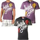 Mens Smith & Jones Printed Front Crew Neck T-Shirt Short Sleeved Tee Casual Top