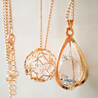 New Women Gold Plated Irregular Hollow Crystal Rhinestone Sweater Chain Necklace