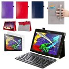 Set: Luxury Case, Screen Protector & Keyboard For Lenovo Tab 2 A10-30/A10-70