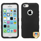For Apple iPhone 5C Hybrid TUFF IMPACT Phone Case Hard Rugged Cover <br/> IN-STOCK - FREE SHIPPING FROM THE USA - BEST SELLER!