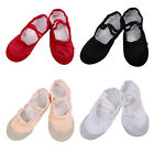 Girls Canvas Ballet Dance Shoes Slippers Professional Dance Skate Socks 2-12Y