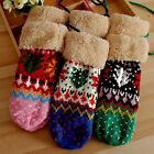 Winter Warm Womens Girls Gloves Mittens Thick Lanyard Outdoor Knitted Gloves