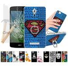 For Acer Liquid Zest 3G Z525 4G Z528 2X Glass Film Ring Stand Hard Case Cover