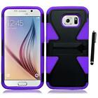 For Samsung Galaxy S6 Hard TPU Rugged Slim-Grip Phone Case Cover Stylus Pen