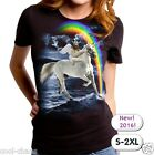 Winged Sloth Gladiator riding a Unicorn T-Shirt / LOL! Cool,Surrealism,Art Tee