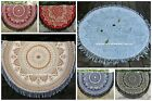 Hippie Indian Ombre Mandala Round Roundie Beach Throw Rug Boho Tapestry Yoga Mat