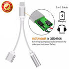 3.5mm Headphone Audio Jack Adapter Connector Charge Cable For iPhone 7 6S 6 Plus