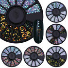 1mm Mixed Color 3D Nail Art Decoration Round Wafer Manicure DIY Decor Flakies
