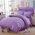 Bed Thickening Quilted Duvet Cover Set  Single Double King Size