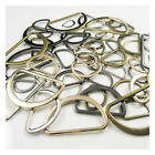 MOULDED FLAT BRASS ALLOY D-RINGS FOR WEBBING BUCKLES 8 SIZE 15MM--50MM 4 COLOUR
