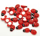 MINI SELF ADHESIVE STICK ON WOODEN LADYBIRDS LADYBUGS CRAFT CARD TOPPERS DIY