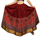 Carrel Imported Cotton Fabric Printed Long Skirt For Women's. 3484